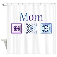 Mom Quilt Blocks Shower Curtain