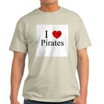I heart Pirates Ash Grey T-Shirt