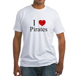 I heart Pirates Fitted T-Shirt