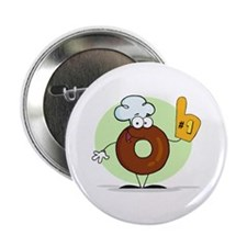 "Doughnut 2.25"" Button (100 pack)"