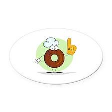 Doughnut Oval Car Magnet
