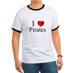 I heart Pirates Ringer T