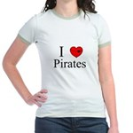 I heart Pirates Jr. Ringer T-Shirt