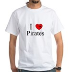 I heart Pirates White T-Shirt