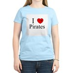 I heart Pirates Women's Pink T-Shirt
