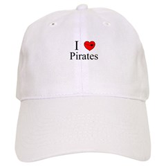I heart Pirates Baseball Cap