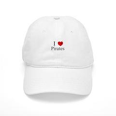 I heart Pirates Baseball Cap
