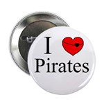 I heart Pirates Button