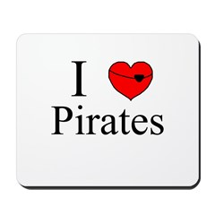 I heart Pirates Mousepad