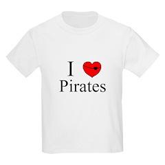 I heart Pirates Kids T-Shirt