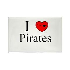 I heart Pirates Rectangle Magnet
