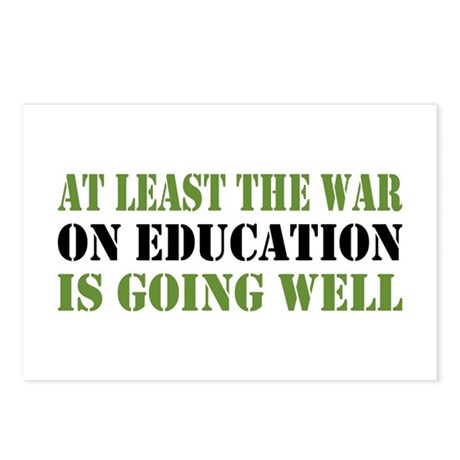 War On Education Postcards (Package of 8)