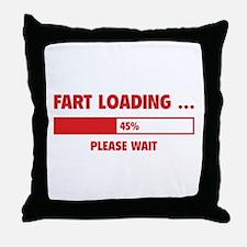 Fart Loading Throw Pillow