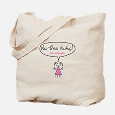 Tree Nut Allergy Tote Bag for Girls