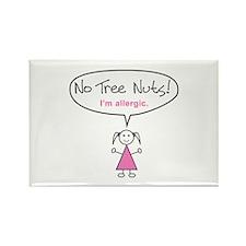Tree Nut Allergy Magnet for Girls