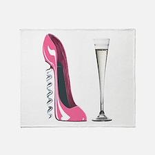 Pink Corkscrew Stiletto and Champagne Flute Stadi
