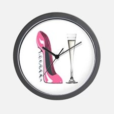 Pink Corkscrew Stiletto and Champagne Flute Wall C