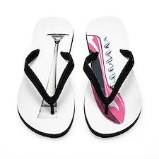 Pink Corkscrew Stiletto and Champagne Flute Flip F