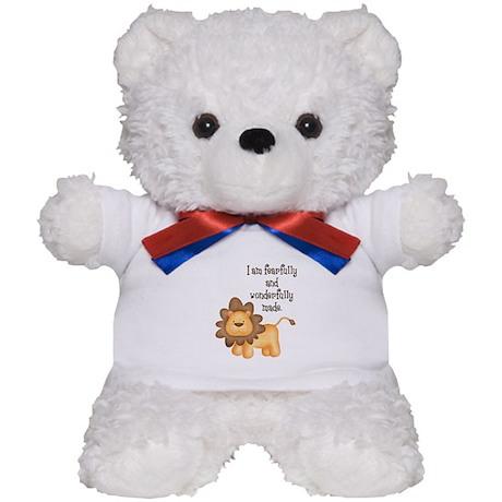 I am fearfully and wonderfully made Teddy Bear