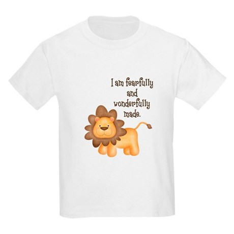 I am fearfully and wonderfully made Kids Light T-S