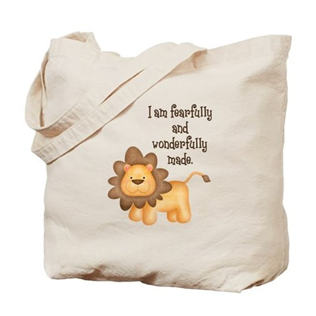 I am fearfully and wonderfully made Tote Bag