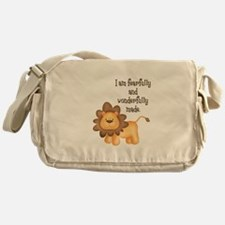 I am fearfully and wonderfully made Messenger Bag