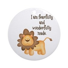 I am fearfully and wonderfully made Ornament (Roun