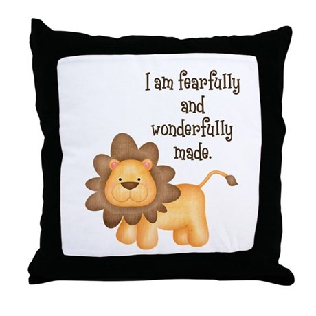 I am fearfully and wonderfully made Throw Pillow