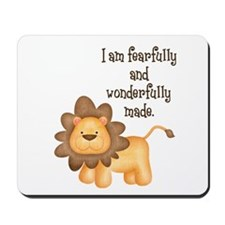 I am fearfully and wonderfully made Mousepad