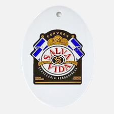 Honduras Beer Label 2 Ornament (Oval)