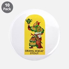 "Indonesia Beer Label 1 3.5"" Button (10 pack)"