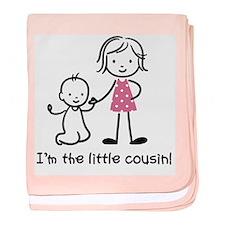 Little Cousin - Stick Figures baby blanket