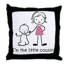 Little Cousin - Stick Figures Throw Pillow