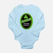 Ireland Beer Label 3 Long Sleeve Infant Bodysuit