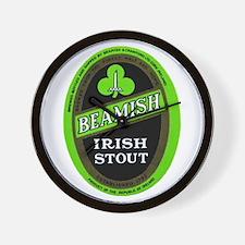Ireland Beer Label 3 Wall Clock