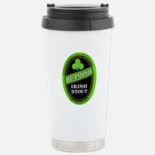 Ireland Beer Label 3 Stainless Steel Travel Mug