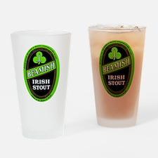 Ireland Beer Label 3 Drinking Glass