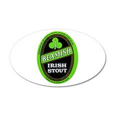 Ireland Beer Label 3 22x14 Oval Wall Peel