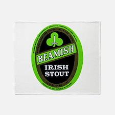 Ireland Beer Label 3 Throw Blanket