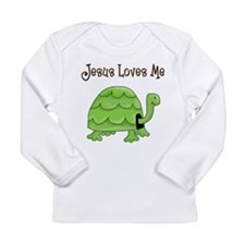 Jesus loves me - Turtle Long Sleeve Infant T-Shirt