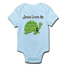 Jesus loves me - Turtle Infant Bodysuit