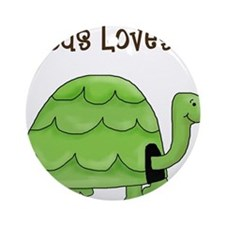 Jesus loves me - Turtle Ornament (Round)