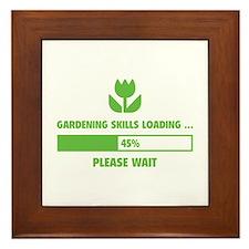 Gardening Skills Loading Framed Tile