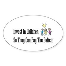 Invest in Children Oval Decal