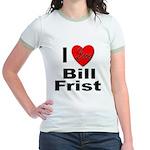 I Love Bill Frist (Front) Jr. Ringer T-Shirt