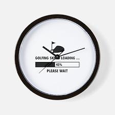 Golfing Skills Loading Wall Clock