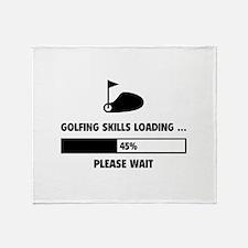 Golfing Skills Loading Throw Blanket