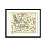 Map of Raine Benaress world Framed Panel Print