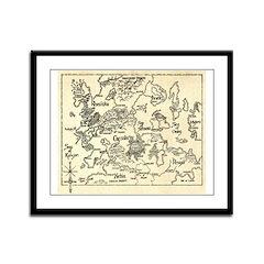 Map of Raine Benaress world Framed Panel Print