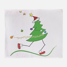 Christmas Tree Runner Throw Blanket